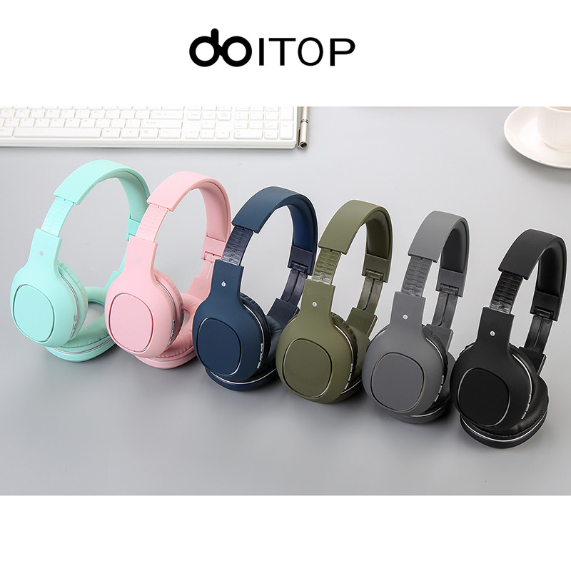 DOITOP Wireless Bluetooth Headphone Extra Bass Stereo Music Earphone Handfree Headset With Mic For Mobile Phones Support TF Card