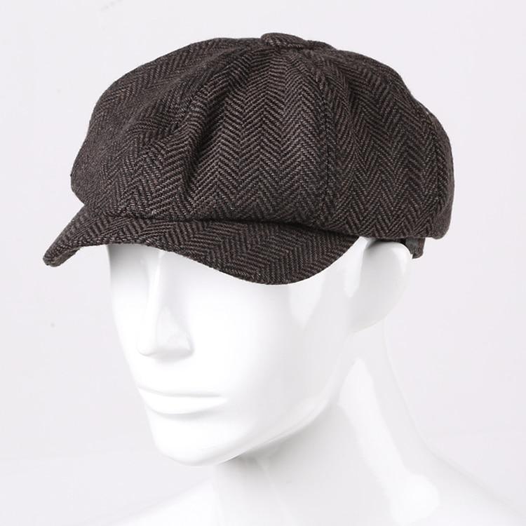 Winter Men Casual Textured Woolen Painter Sbeira Cap Men European Style Brand Fashion Autumn Hat C147