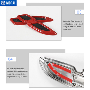 Image 5 - Mopai車のステッカージープグランドチェロキー車体エアフローベントカバーフェンダーエンジン用ジープグランドチェロキーアクセサリー