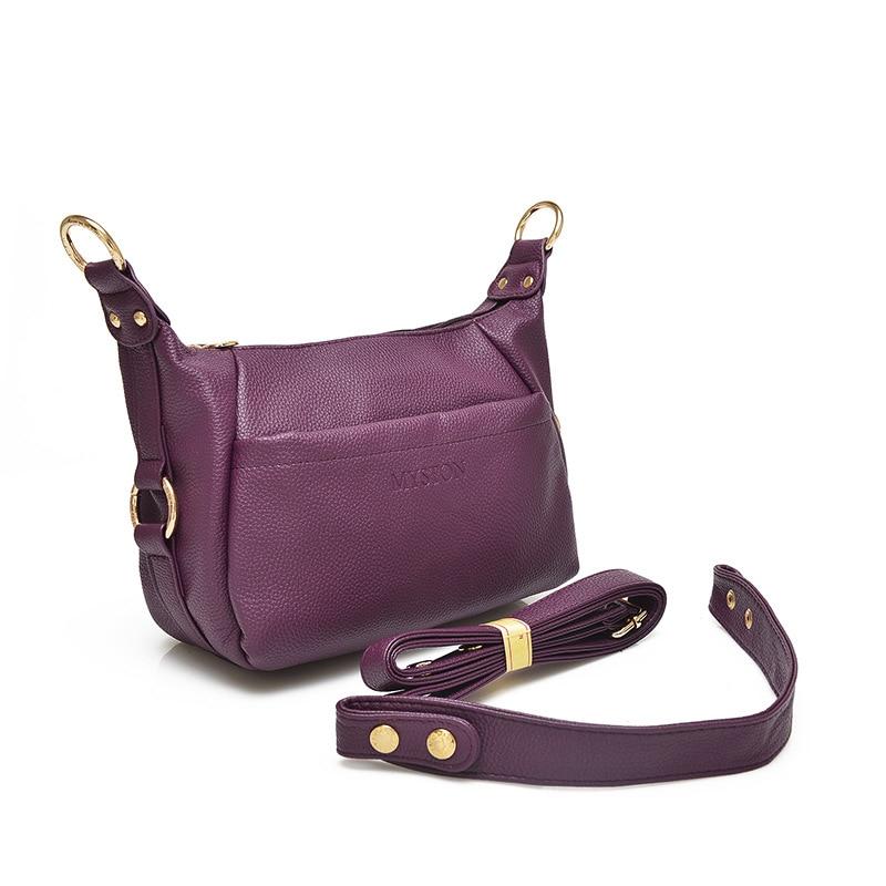Женская сумка-мессенджер, из натуральной кожи, через плечо