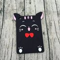 3D Cartoon Black Lucky Cat Fundas Cover case For Ipad 2 3 4 5 6 Air 2 Soft Silicone Cases For Ipad Mini 1 2 3 4 Tablet Coque