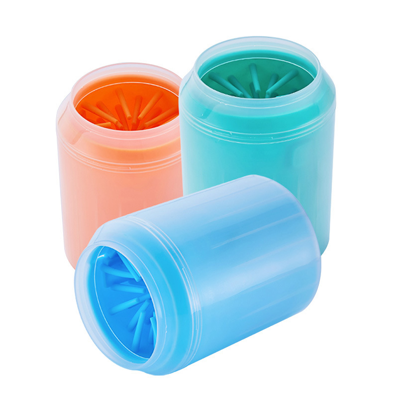 Silicone Dog Paw Cleaner Cup Pet Foot Washer Cup Pet Paw Cleaning Dirt Brush Quickly Clean Paw Dog Foot Wash Tool Dog Brush