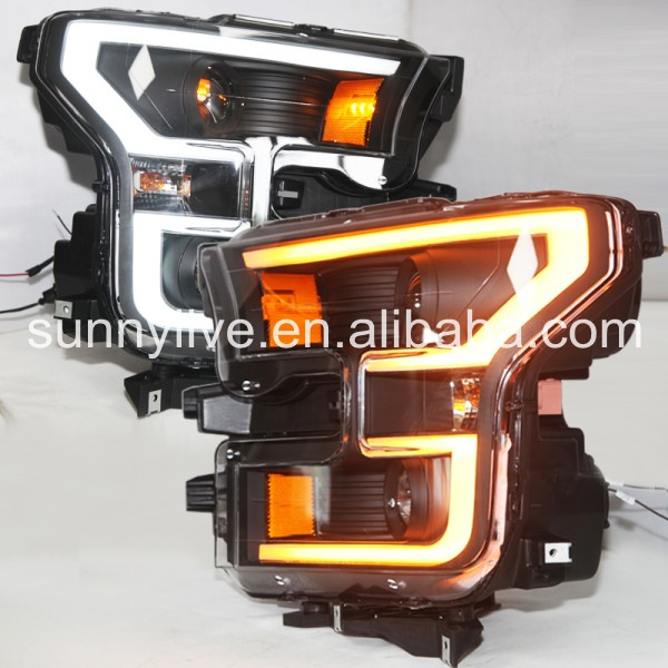 For FORD for Raptor F150 2014-2015 Head Light Black Color SN