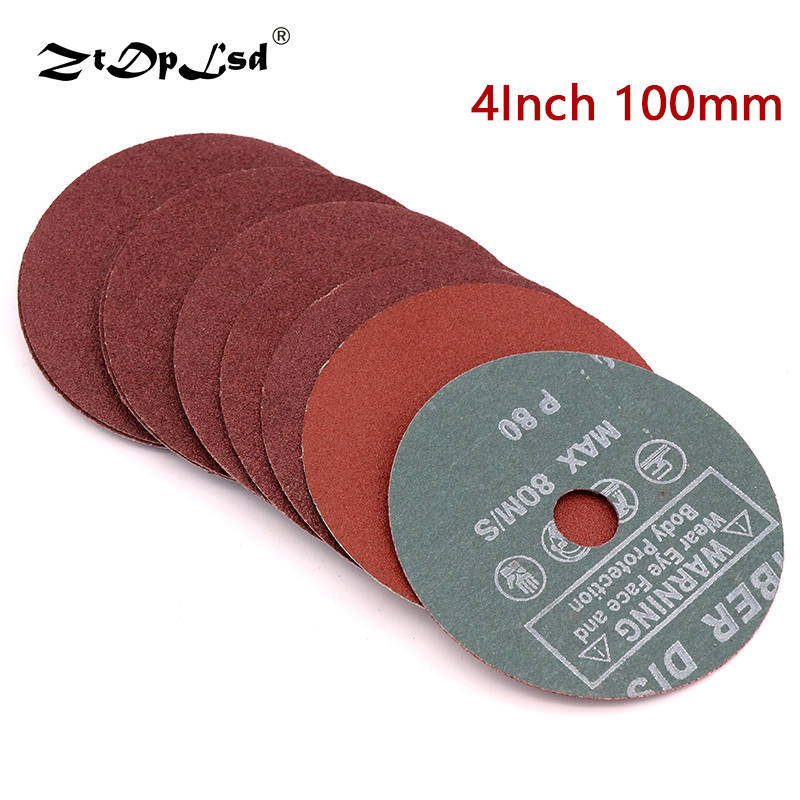 Sandpaper For Metal >> Us 1 23 46 Off Ztdplsd 3pcs 4 Inch 100mm Steel Grinding Pads Angle Sandpaper Metal Sanding Disc Polishing Discs Buffing For Tool Accessories In