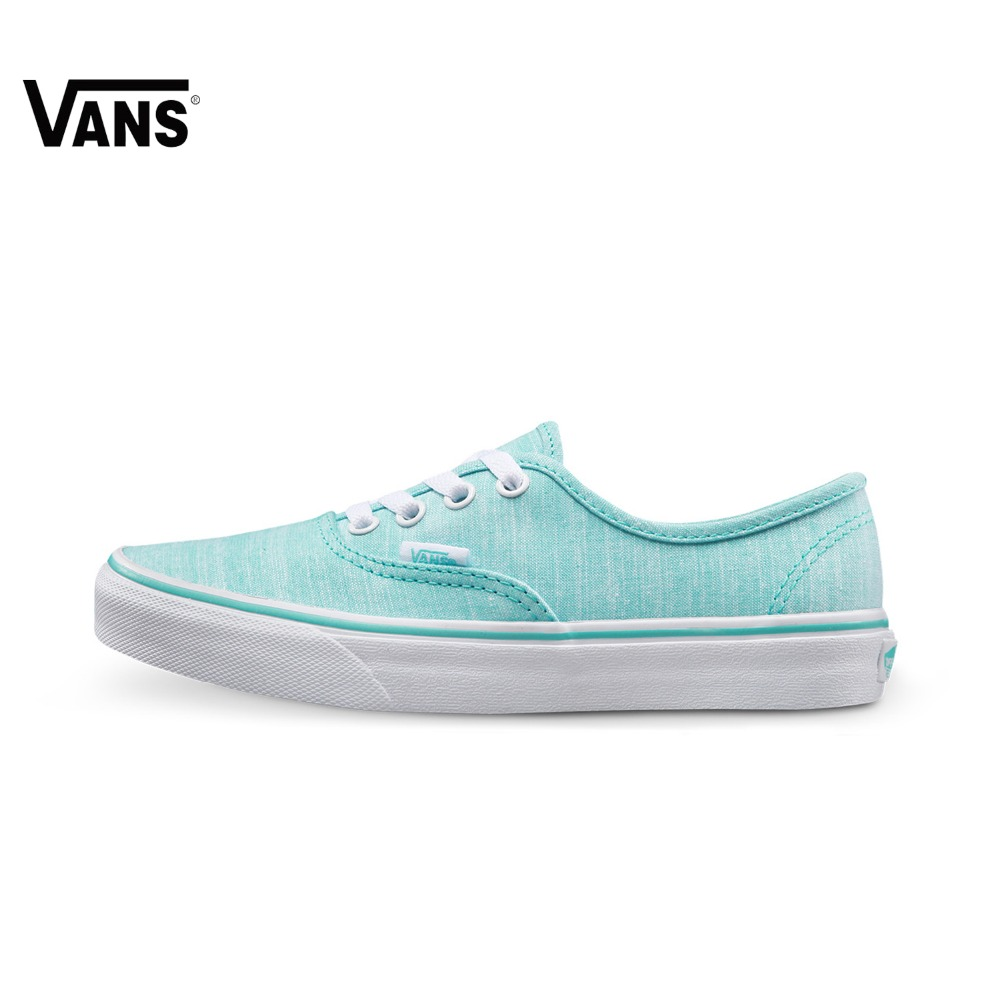 купить Original New Arrival Vans Authentic Blue Color Low-Top Women's Skateboarding Shoes Sport Outdoor Sneakers Comfortable
