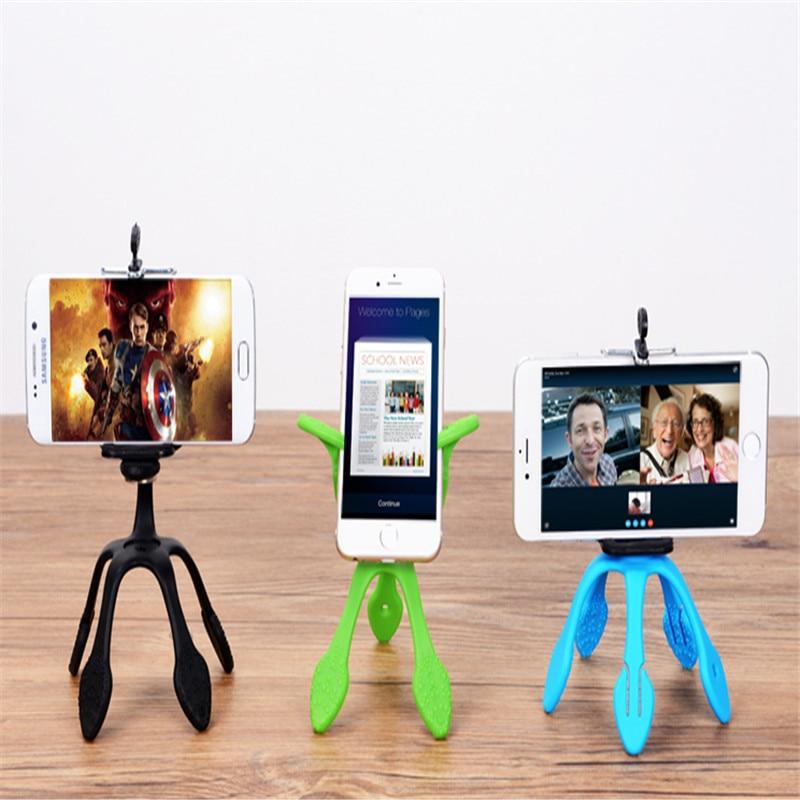 MAYWAY Mini <font><b>Tripod</b></font> Mount Portable Flexible Stand Holder Multi function <font><b>phone</b></font> camera stand gecko spider stent For All <font><b>Phones</b></font>