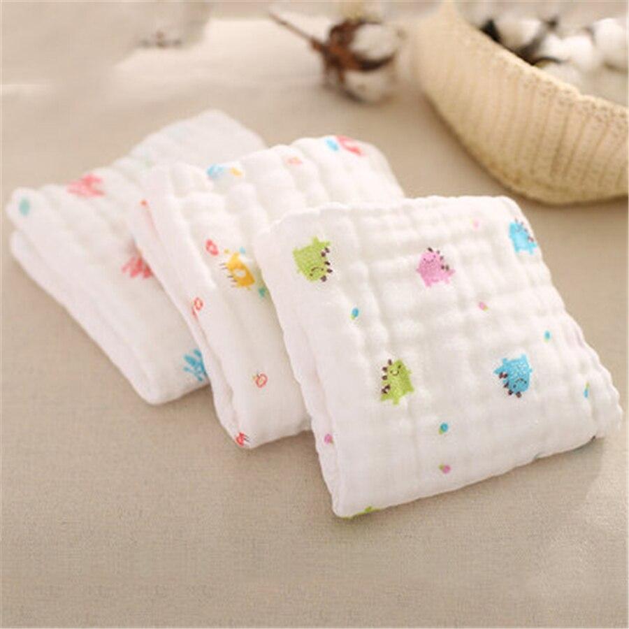 Soft Cartoon Baby Bath Towel Cotton Newborn Handkerchief 3 Pcs High Quality Newborn Wipes Baby Feeding Towel Hand Kids 60A0093