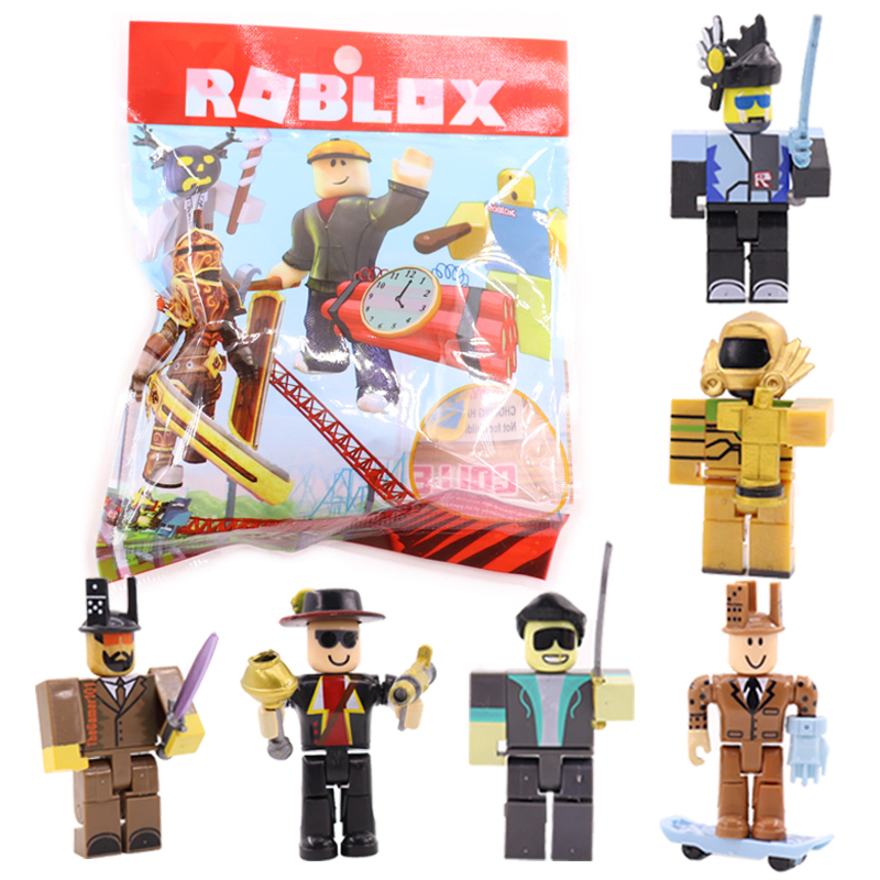 6pcs/set Roblox Toy Action Figures Games Model 7cm PVC Juguetes Roblox Anime Cartoon Figure Christmas Gift Toys For Children #E 2017 anime transformation 4 cars robots toys pvc action figures toys brinquedos model boy toy christmas gifts juguetes cm