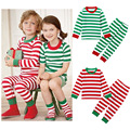 2016 Christmas Pajamas Clothing Sets For Baby Girls Cotton Striped T-shirt Pant 2pcs Halloween Costume For Kids Clothes Baby Boy