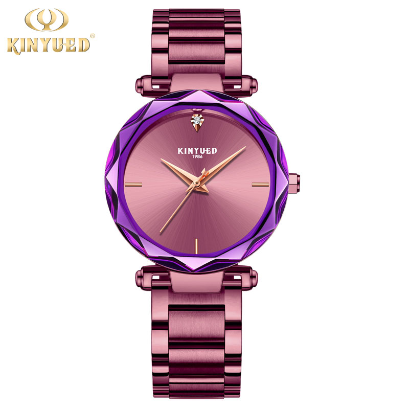 KINYUED Luxury Brand Women Quartz Watch Dress Shining Star Style Ladies Watches Stainless Steel relogio feminino relojes mujer relogio feminino quartz watch fashion watch women luxury dom brand leather strap watches ladies wristwatch relojes mujer 2017