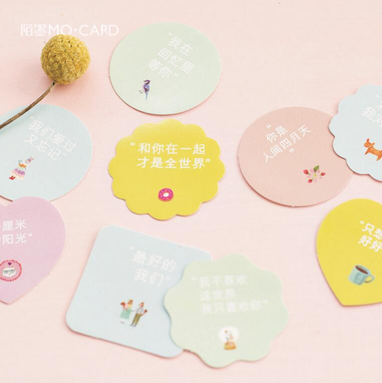 Geometry love friend confession round square decorative stationery stickers scrapbooking diy diary album stick label in stationery sticker from office