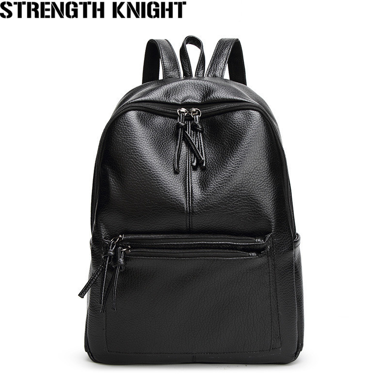 Women Backpack High Quality Leather Backpacks for Teenage Girls Casual Female School Shoulder Bag Bagpack mochila