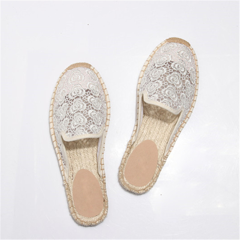 Hot Espadrilles Women Handmade Mules Slippers Retro Summer Ladies Casual Canvas Comfort Shoes Round Toe Embroidery Slides Shoes in Slippers from Shoes