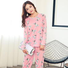 Women's Pajamas Sets Autumn Cartoon Cute Sweet Fresh Casual