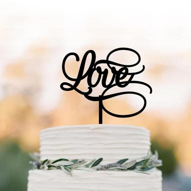 Love Cake Topper For Wedding Valentines Day Birthday Party Baby