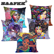 African woman Cushion Cover Cotton Polyester Original Women Life Pillow Case Chair Covers