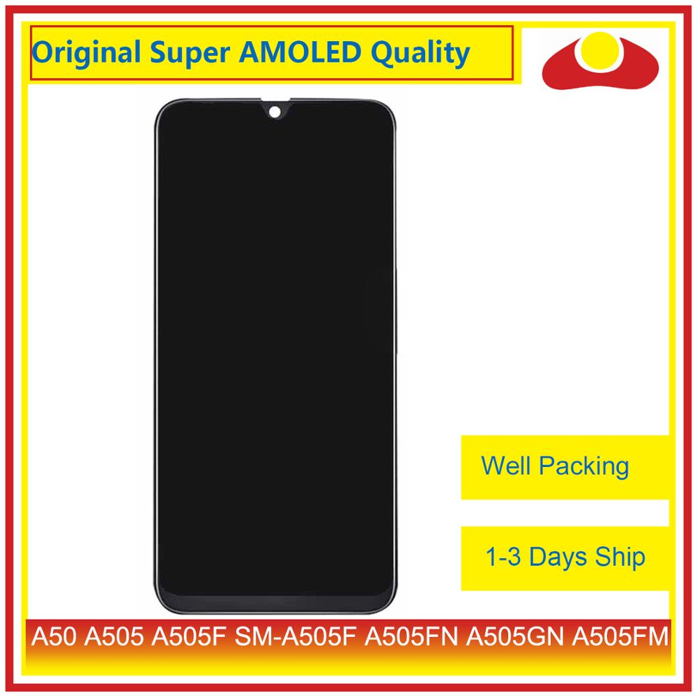 Image 2 - Original For Samsung Galaxy A50 A505 A505F SM A505F LCD Display With Touch Screen Digitizer Panel Pantalla Complete-in Mobile Phone LCD Screens from Cellphones & Telecommunications
