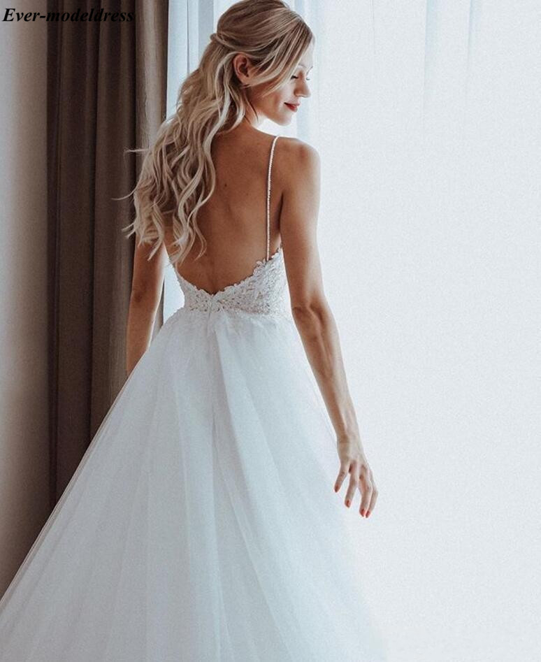 2019-spaghetti-straps-beaded-pearls-tulle-boho-wedding-dresses-sleeveless-sweep-train-beach-bridal-gowns-appliques-wedding-gowns-for-brides (3)_conew1