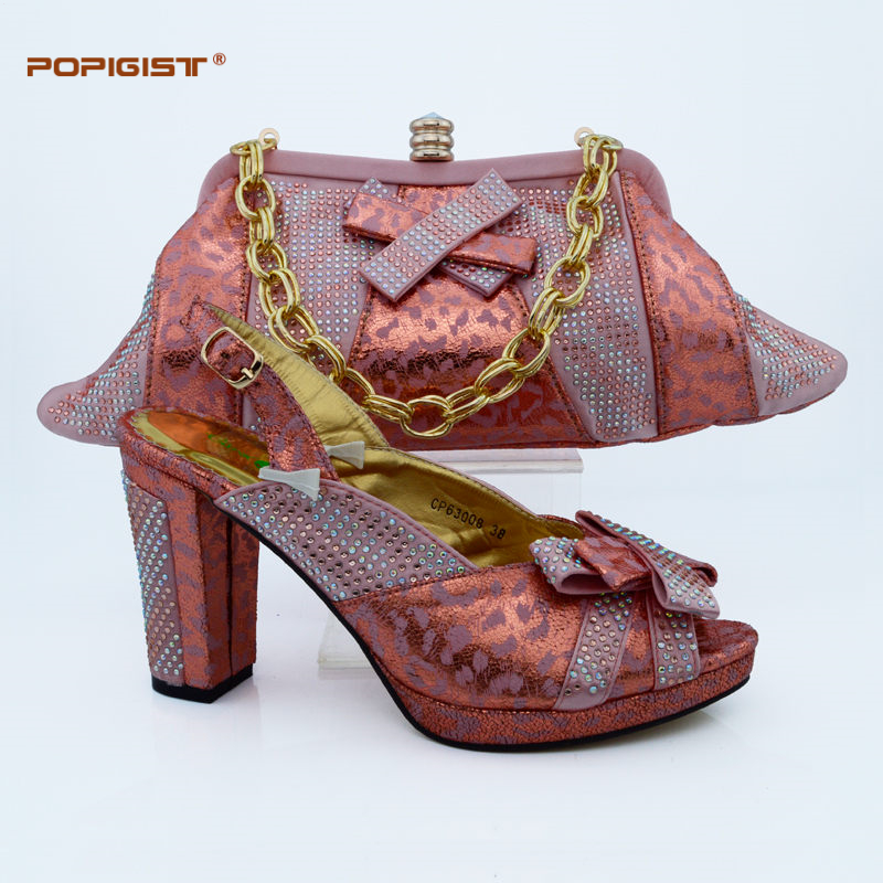 peach wedding shoes new design women shoes color italian shoes and bags 6411
