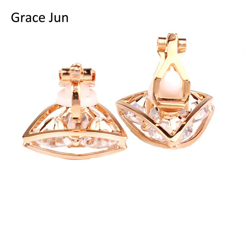 Grace Jun (TM) Yüksək keyfiyyətli Mis Sıxılmış AAA CZ - Moda zərgərlik - Fotoqrafiya 4
