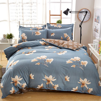 Fashion Cartoon Striped Plaid Flowers New Style Geometric Pattern Bedding Kit 3/4pcs Duvet Cover Bed Sheet Pillowcases #360