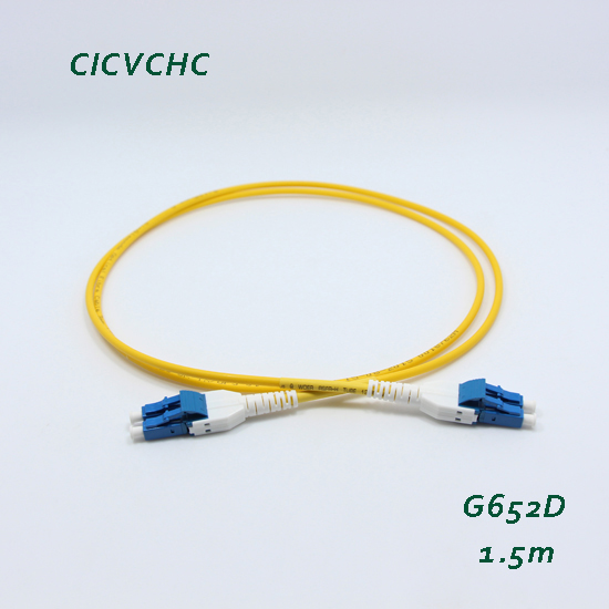 5pcs LC/UPC Unitboot -G652D-1.5m-3.0mm-PVC-Yellow Optical Fiber Patchcord/Hybrid/Jumper