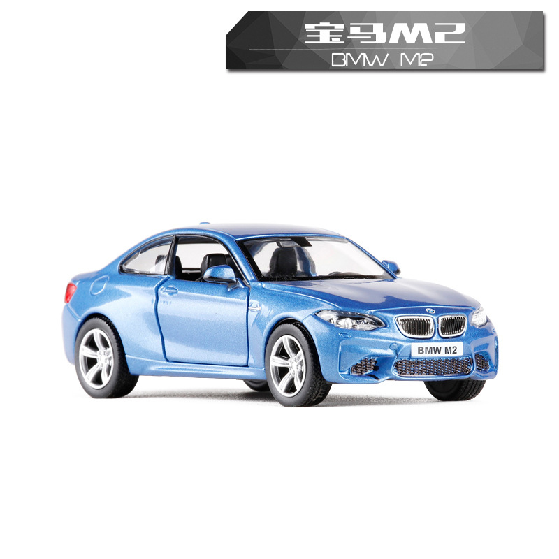 High Simulation 1:36 RMZ city Exquisite Metal BMWToy Vehicles Car Styling M2 Limousine Alloy Diecast Pull Back Model Kid Toy Car