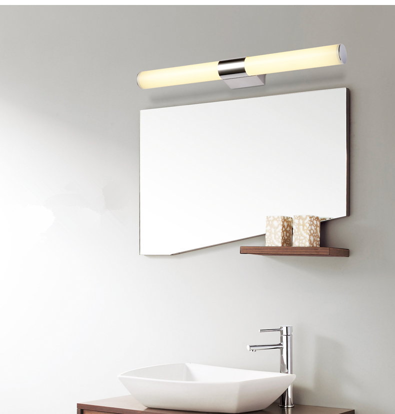 modern designed 8w 10w 12w led bathroom light fixtures mirror wall light indoor mirror front cheap bathroom lighting