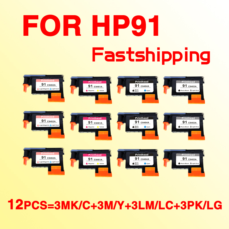 For hp91 printhead for hp 91 C9460A C9461A C9462A C9463A Designjet Z6100 Z6100P printer for hp 91 designjet printhead c9460a c9461a c9462a c9463a for hp designjet z6100 z6100ps printer 100% genuine brand new