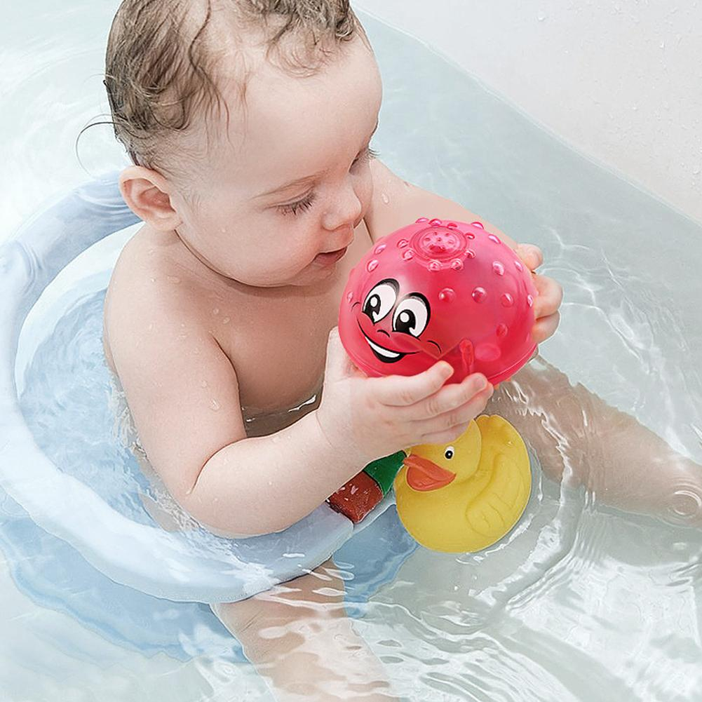 Funny Infant Children's Electric Induction Sprinkler Water Spray Toy Light & Music Rotatable Baby Play Bath Toy Kids' Water Toys