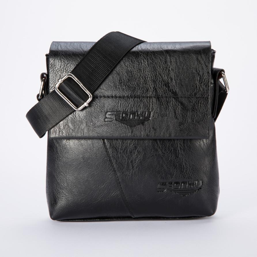 Men Handbags Tote Chest Bag Purse Bolsa Zipper Flap Small Business Shoulder Messenger Crossbody Fashion Handbag 2017New Gift