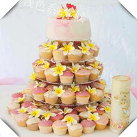 Perfect Round 5 Tier Acrylic Cup Cake Stands Maypole Wedding Cake Display Stand Wedding Decoration