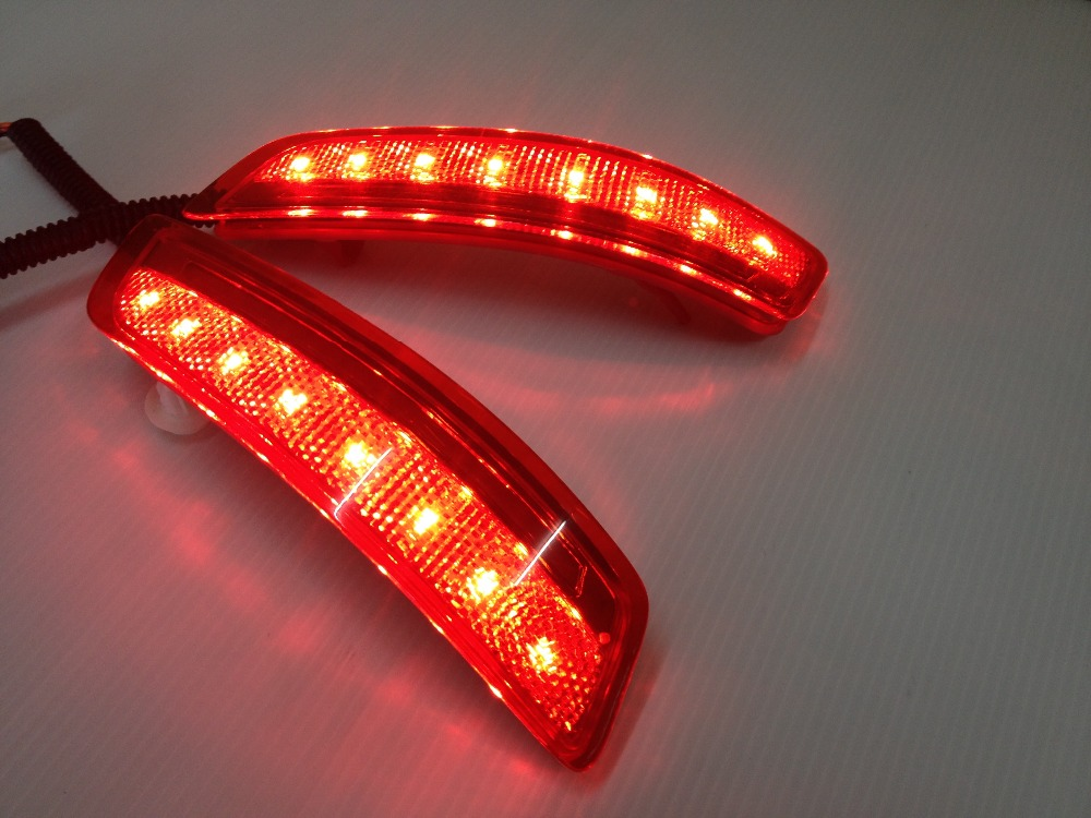 New!! for toyota altis corolla 2014 led rear bumper light brake light reflector novel design top quality fast shipping купить