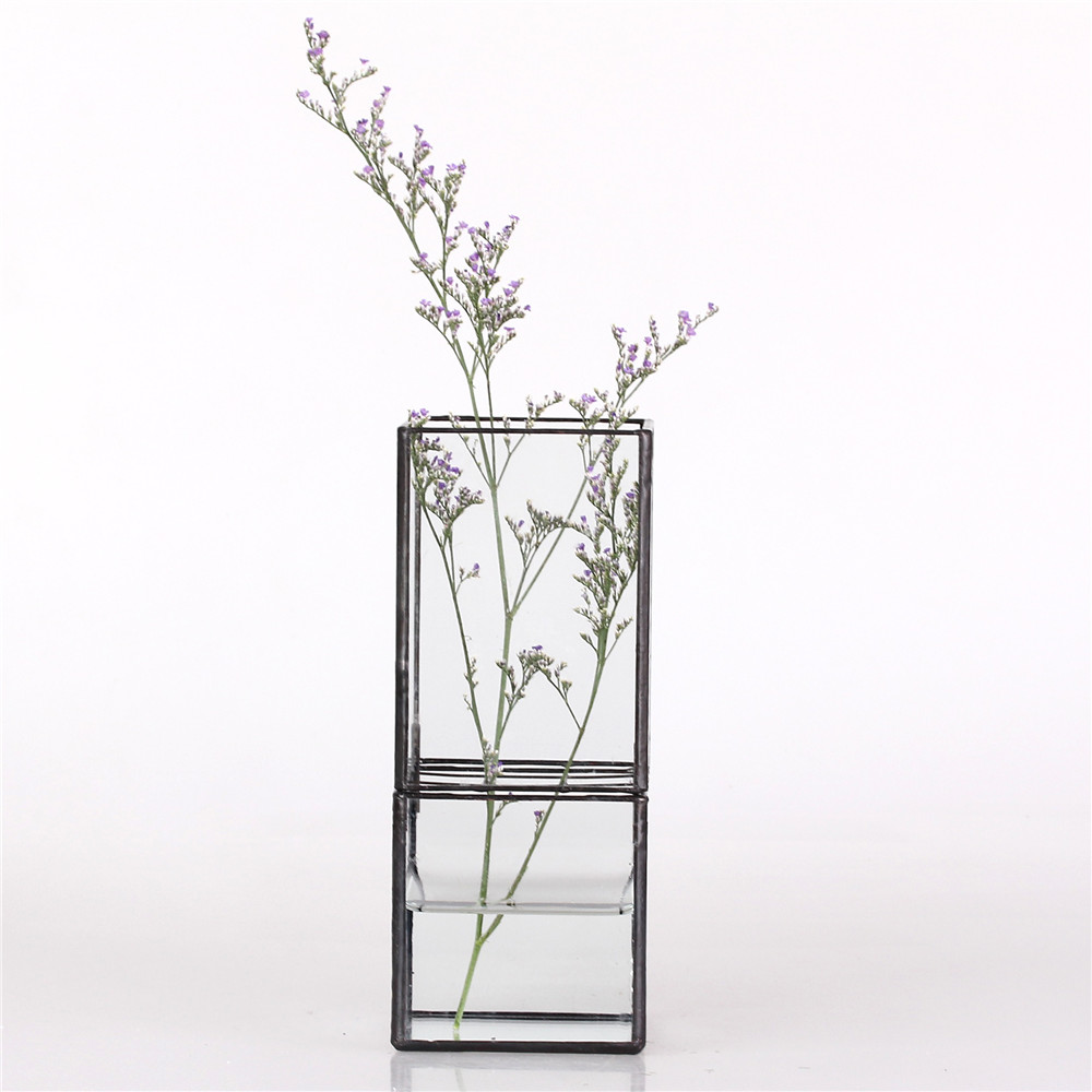 removable cube rectangle split type geometric hydroponic glass terrarium aquarium aquatic plant. Black Bedroom Furniture Sets. Home Design Ideas