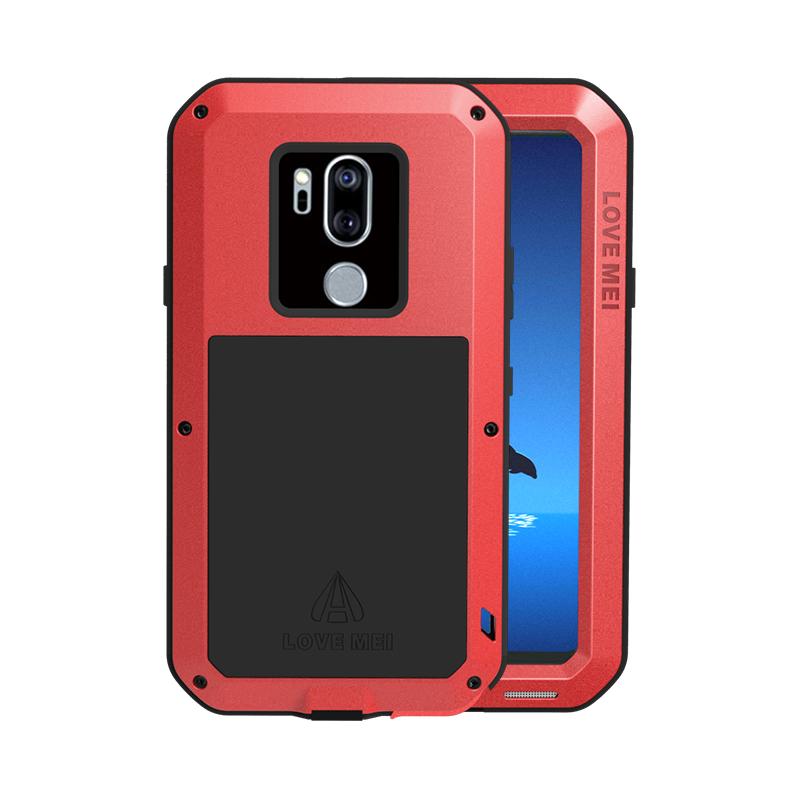 online store bfa35 94ba6 US $26.25 25% OFF|Gorilla glass filmGift) Waterproof Case For LG G7 ThinQ  Love Mei Hard Shockproof Aluminum For LG G7 Cases Protection Phone Cover-in  ...