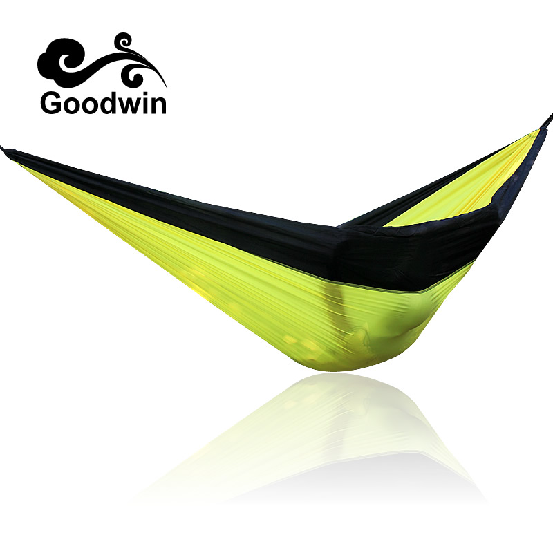 Portable Hammock Double Person Camping Survival garden hunting Leisure travel furniture Parachute Hammocks wholesale portable nylon parachute double hammock garden outdoor camping travel survival hammock sleeping bed for 2 person