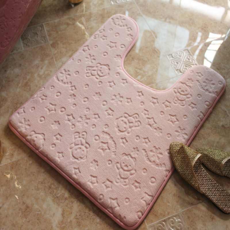 ふわふわ家の装飾のカーペット浴室マットトイレ、浴室の敷物カーペット U 形のバスマット、 50*60 マットバスルーム、トイレ