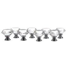Thgs 8 в 1 Diamond Crystal мебельные ручки стекла мебельные ручки дверные ручки шкафа прозрачный