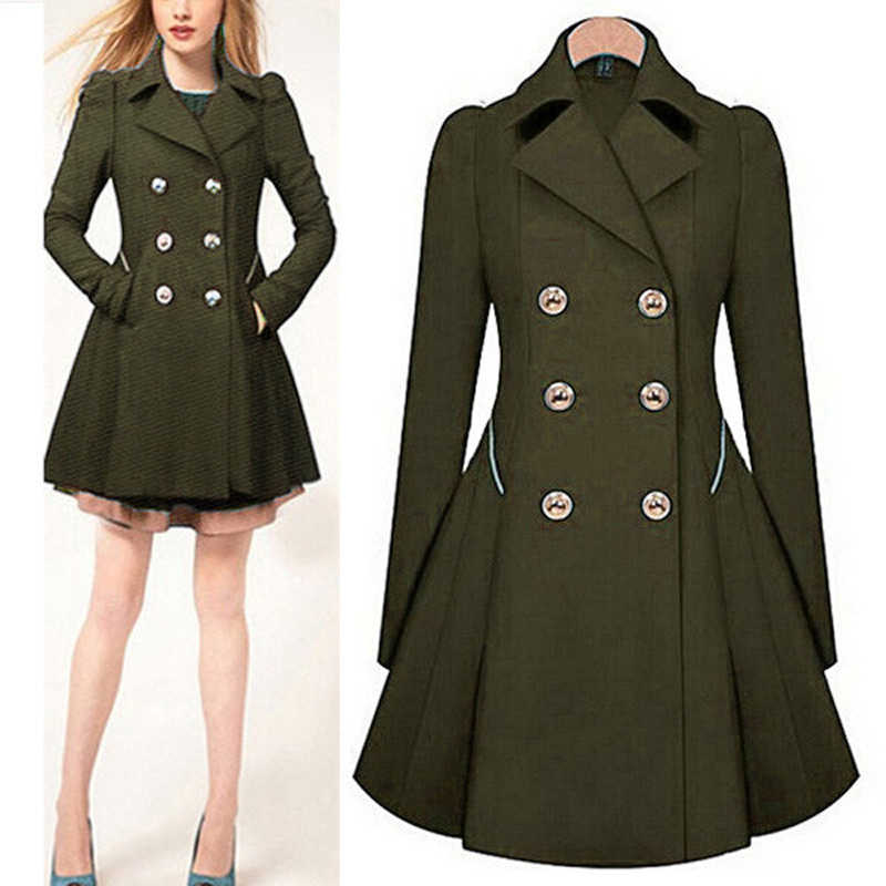 Double Breasted  Wool Winter Coat Women's Winter Coats Brand  Winter Coat