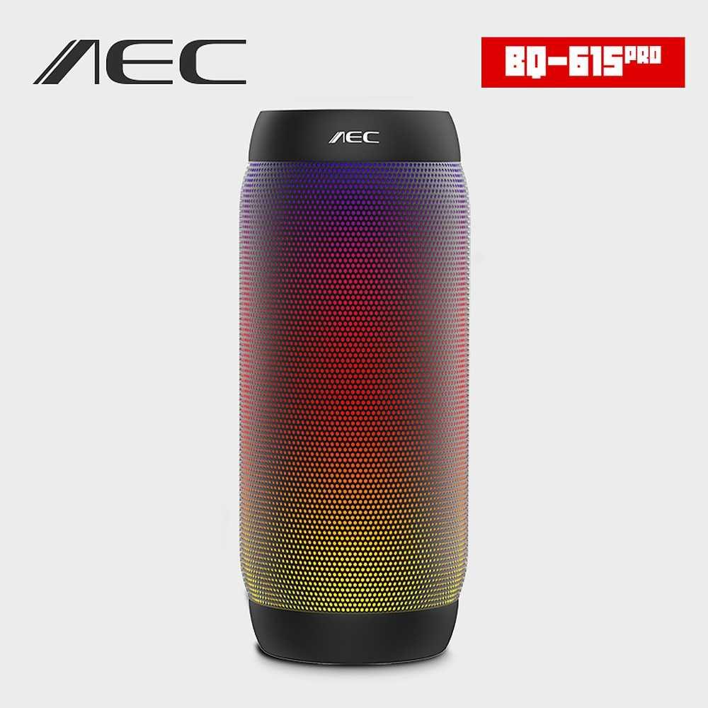 Горячая AEC BQ615 портативная беспроводная Bluetooth Беспроводная колонка ПК Вибрационный светодиодный динамик супер басовый сабвуфер для велосипедной звуковой коробки