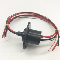 Capsule Slip Ring With Flange OD22MM 2p Signal 2p Power Miniature Slip Ring Rotary Collector