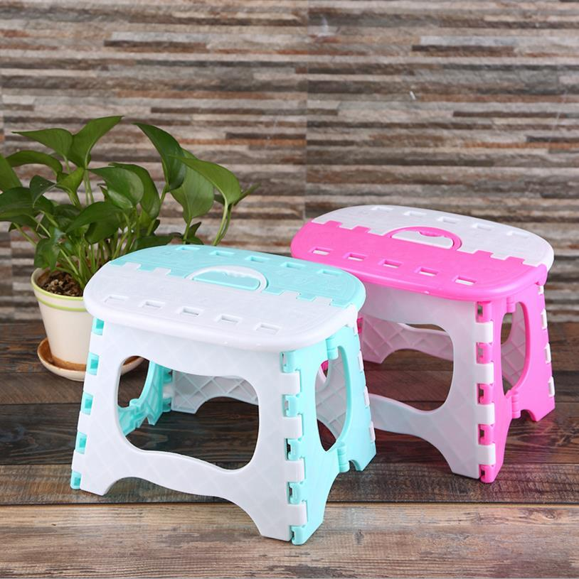 Hot Sale Plastic Folding Stool 6 Type Thicken Chair Portable Home Furniture Child Convenient Dinner Stools