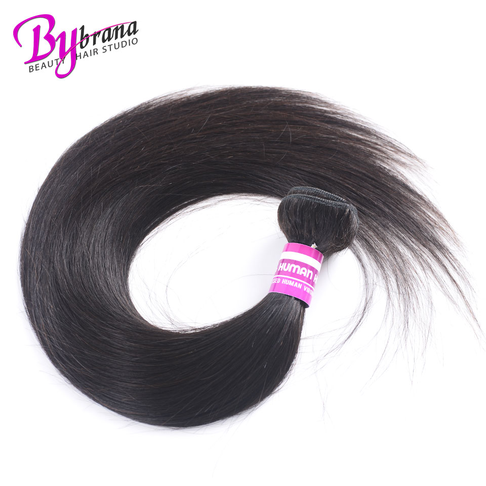 Indian Straight Hair Bundles With Frontal Natural Color Human Hair 18Inches Lace Frontal With Straight Bundles 22 24 26 Bybrana 259