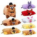 43 cm * 30 cm Cinco Noites No Freddys plush Pillow fnaf Golden Freddy Fazbear Mangle chica bonnie foxy de pelúcia travesseiro de pelúcia boneca de brinquedo