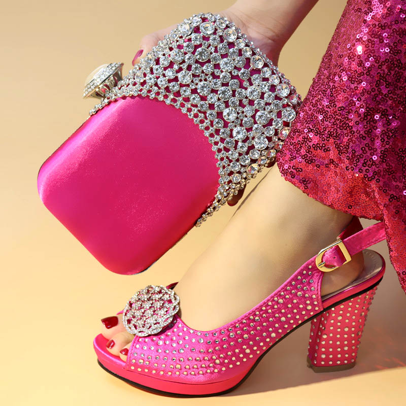 2019 Beautiful Fuchsia Italy shoes and bag set for party Italian womens shoes and bag set new design african shoes and bag set 2019 Beautiful Fuchsia Italy shoes and bag set for party Italian womens shoes and bag set new design african shoes and bag set