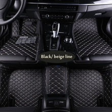 Car floor mats for Tesla Model S X Fit Alfa Romeo Stelvio Giulia  car-styling carpet PU leather Left -hand drive
