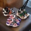 Otoño nuevos muchachos niños de deportes walking shoes shoes superficie de cuero de corea niñas otoño invierno