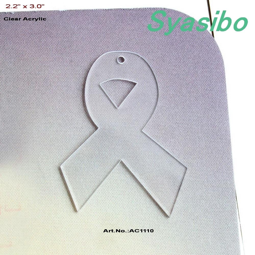 6105c467c (10 قطعة/الوحدة) 3 فارغة واضح الاكريليك أشرطة التوعية مفتاح سلسلة السرطان  الكلمات حفظ تاريخ 76mm-AC1110