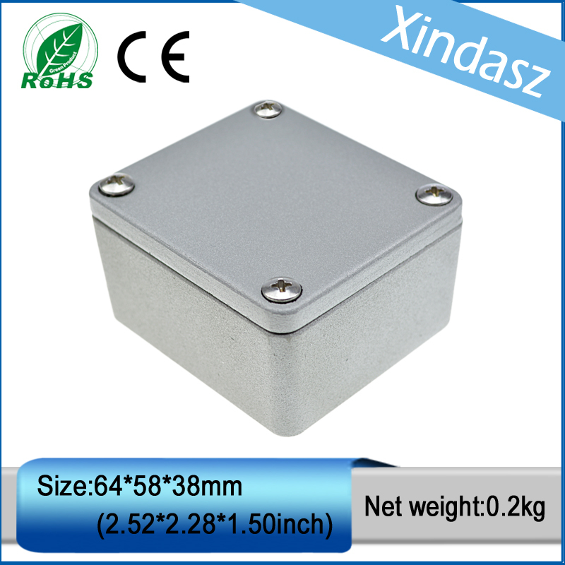 Free shipping aluminium enclosure electronics waterproof electronic box aluminium junction box metal enclosure 64*58*38mm polaris phd 1038t