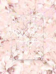 Image 2 - Pink Flower Flip Cover For iPad Pro 9.7 11 air 10.5 12.9 2020 Air2 Mini 1 2 3 4 5 2019 Tablet Case for New iPad 9.7 2017 2018